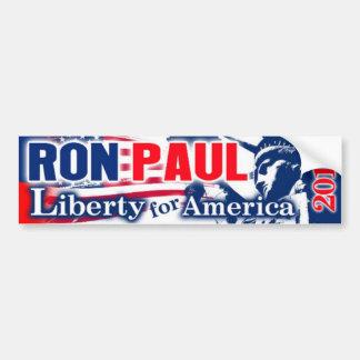 LIBERTAD 2012 de RON PAUL para AMÉRICA Pegatina Para Auto