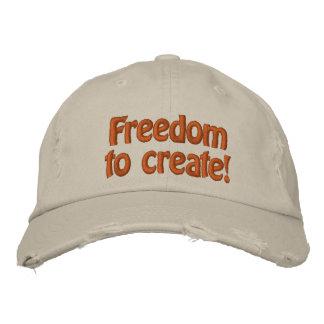 ¡Libertad a crear! Gorros Bordados