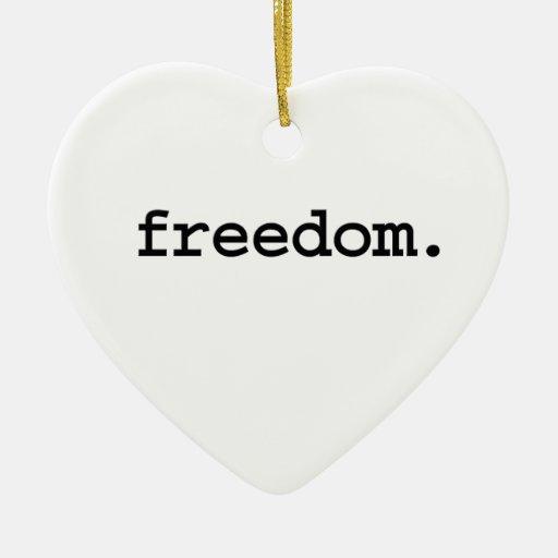 libertad adorno de cerámica en forma de corazón