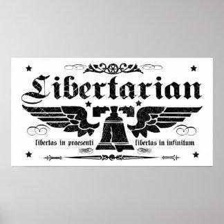 """""""Libertad ahora, de la libertad poster libertario"""