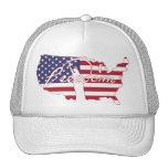 Libertad americana del país de la bandera de la li gorros bordados