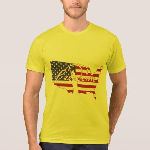 Libertad americana del país de la bandera de la li camisetas