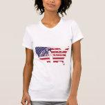 Libertad americana del país de la bandera de la li camiseta