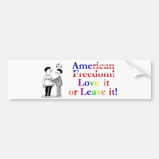 ¡Libertad americana!  pegatina para el parachoques Pegatina Para Auto