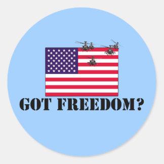 Libertad americana pegatina redonda