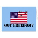 Libertad americana tarjetas