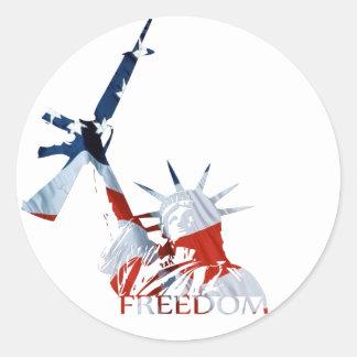 ¿Libertad - armas conseguidos Etiquetas Redondas
