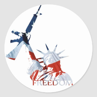 ¿Libertad - armas conseguidos? Pegatina Redonda