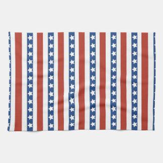 Libertad azul blanca roja patriótica de las barras toalla