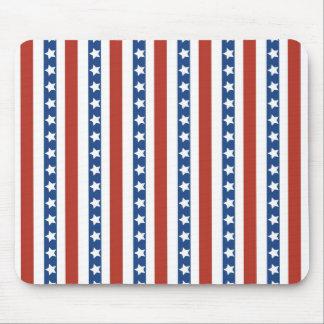 Libertad azul blanca roja patriótica de las barras tapetes de ratón