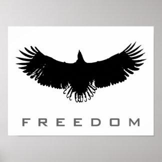 Libertad blanca negra Eagle del arte pop que Posters