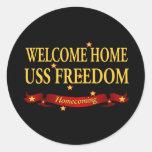 Libertad casera agradable de USS Pegatina Redonda