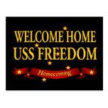 Libertad casera agradable de USS Tarjeta Postal