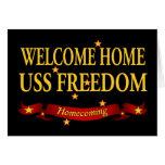 Libertad casera agradable de USS Tarjetón