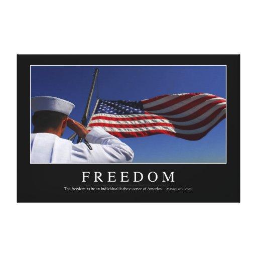 Libertad: Cita inspirada 2 Lienzo Envuelto Para Galerías