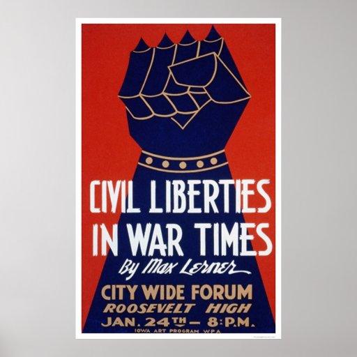Libertad civil WWII WPA 1940 Póster