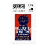 Libertad civil WWII WPA 1940 Sello