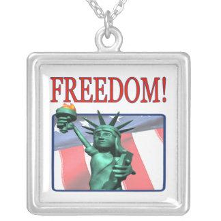 Libertad Collar Plateado