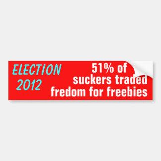 Libertad comercial de la elección 2012 para los re pegatina para auto