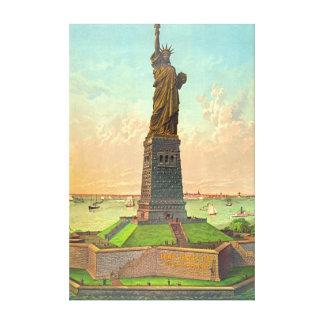 Libertad con el anuncio 1883 impresión en lona