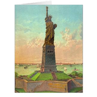 Libertad con el anuncio 1883 tarjeta de felicitación grande