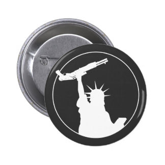 Libertad con la escopeta pin redondo 5 cm