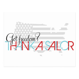 ¿Libertad conseguida Agradezca a un marinero Tarjetas Postales