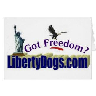 ¿Libertad conseguida? Tarjeta De Felicitación