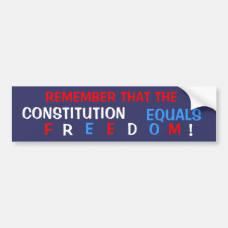 Libertad constitucional pegatina de parachoque