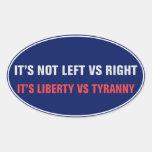 Libertad contra el pegatina de la tiranía
