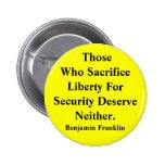 Libertad contra seguridad pin redondo 5 cm