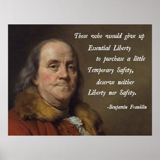 Libertad de Benjamin Franklin Póster