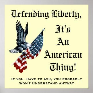 Libertad de defensa poster