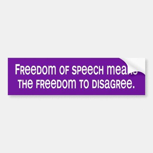 libertad de expresión etiqueta de parachoque