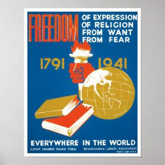 Libertad de expresión poster