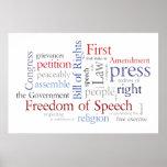 ¡Libertad de expresión! Poster de Declaración de D