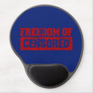 Libertad de expresión quizá no alfombrilla con gel