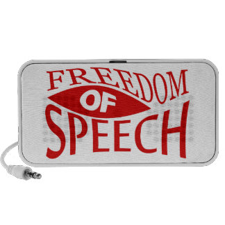 Libertad de expresión - rojo 2 altavoz
