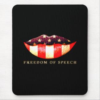 Libertad de expresión alfombrilla de ratones