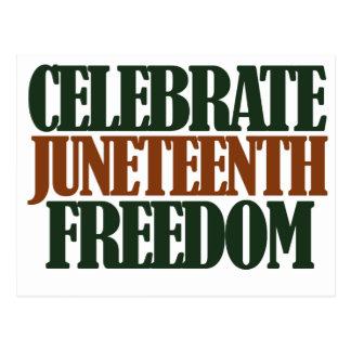 Libertad de Juneteenth Tarjetas Postales