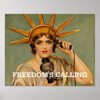 Libertad de la CAMISETA llamada Poster