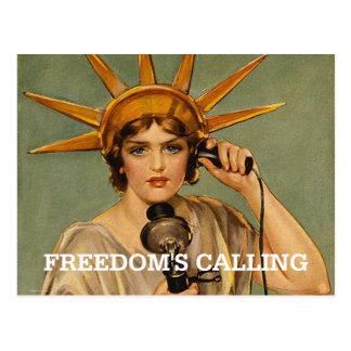 Libertad de la CAMISETA llamada Postales
