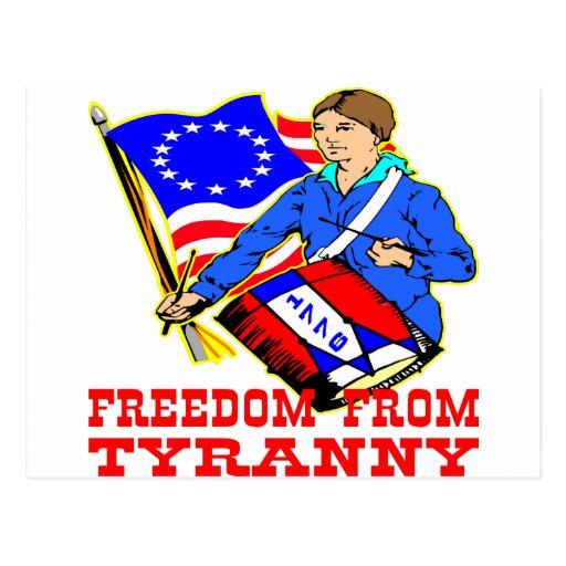 Libertad de la guerra de 1776 revolucionarios de tarjetas postales
