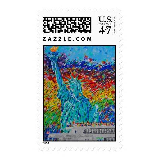 Libertad de la libertad sello postal
