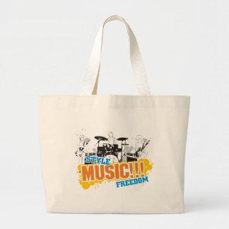 Libertad de la música del estilo……… bolsa tela grande