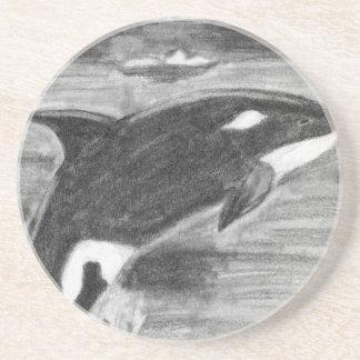 Libertad de la orca posavasos personalizados