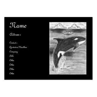 Libertad de la orca tarjetas de visita grandes