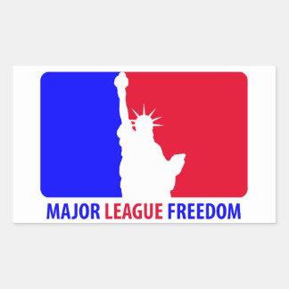 Libertad de la primera división rectangular pegatinas