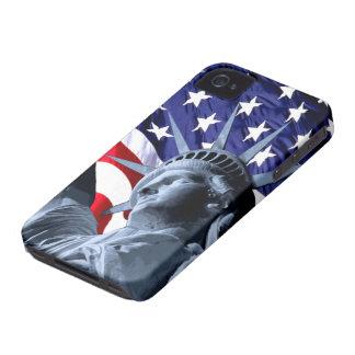 Libertad de las barras y estrellas iPhone 4 protectores