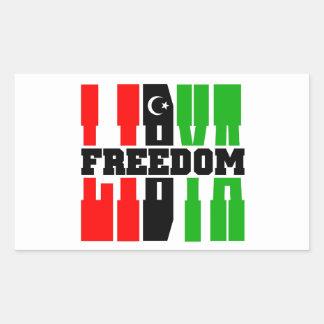 Libertad de Libia Pegatina Rectangular